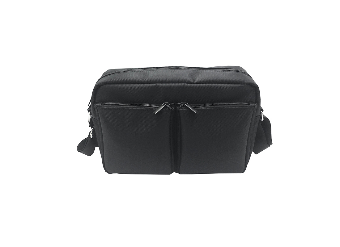 men casual bag with two front zipper pockets