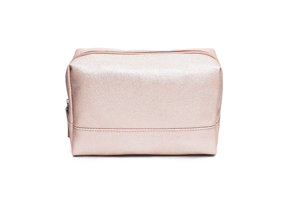 sparkly cosmetic bag - 20010 - pink front
