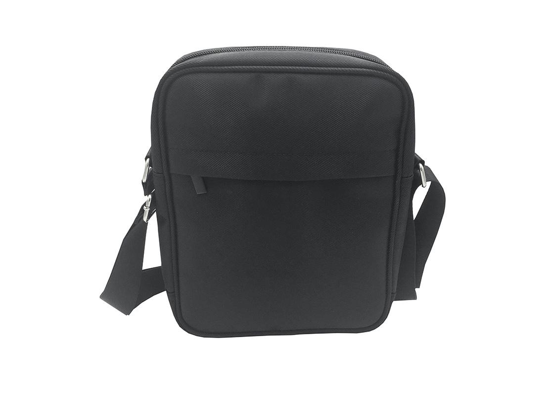 Men cross body bag in black back