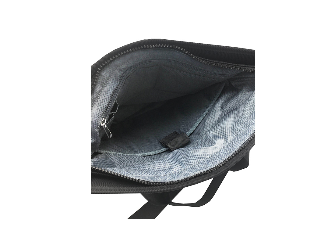 Tote bag for men with laptop compartment Open