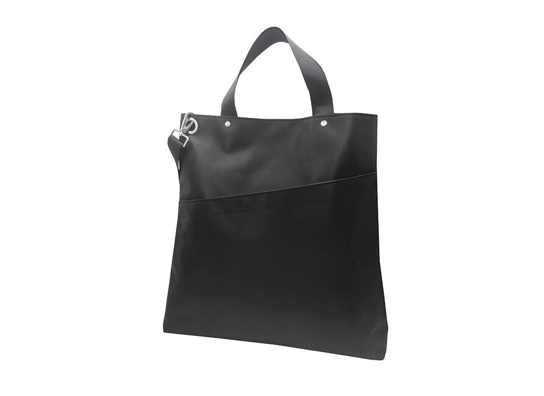 Black Tote Bag for Men L side
