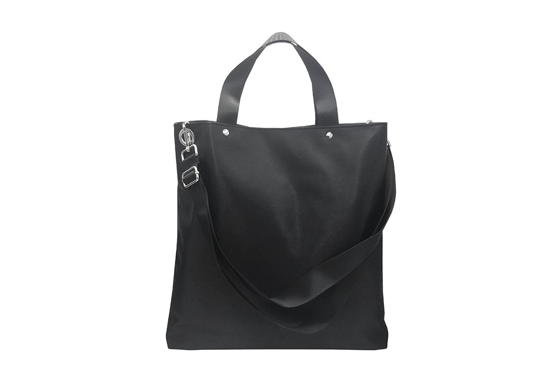 Black Tote Bag for Men Back