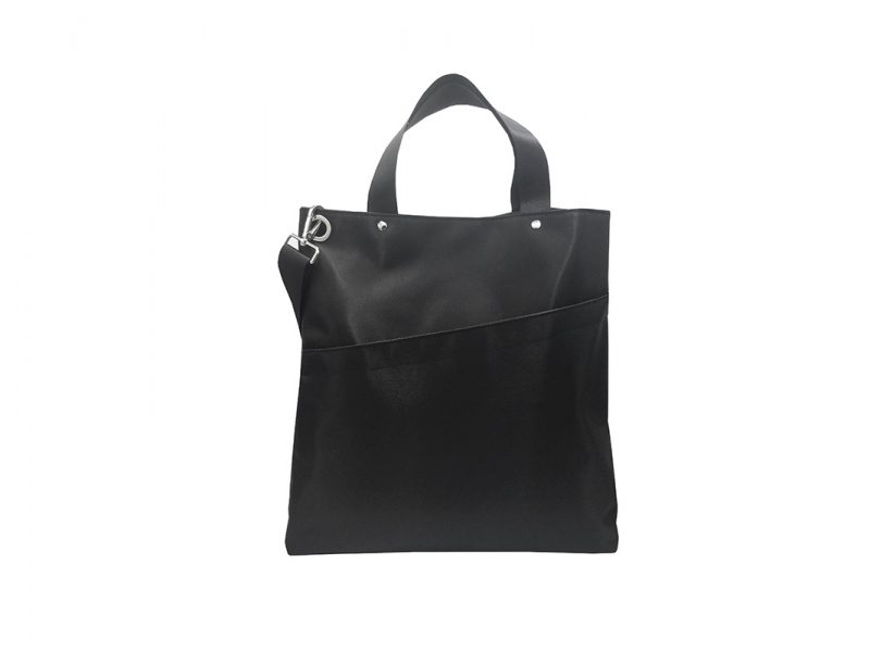 Black Tote Bag for Men Front