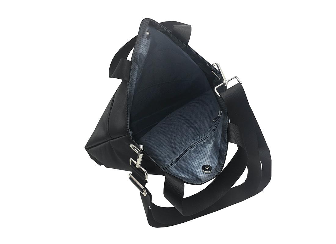 Black Tote Bag for Men Open