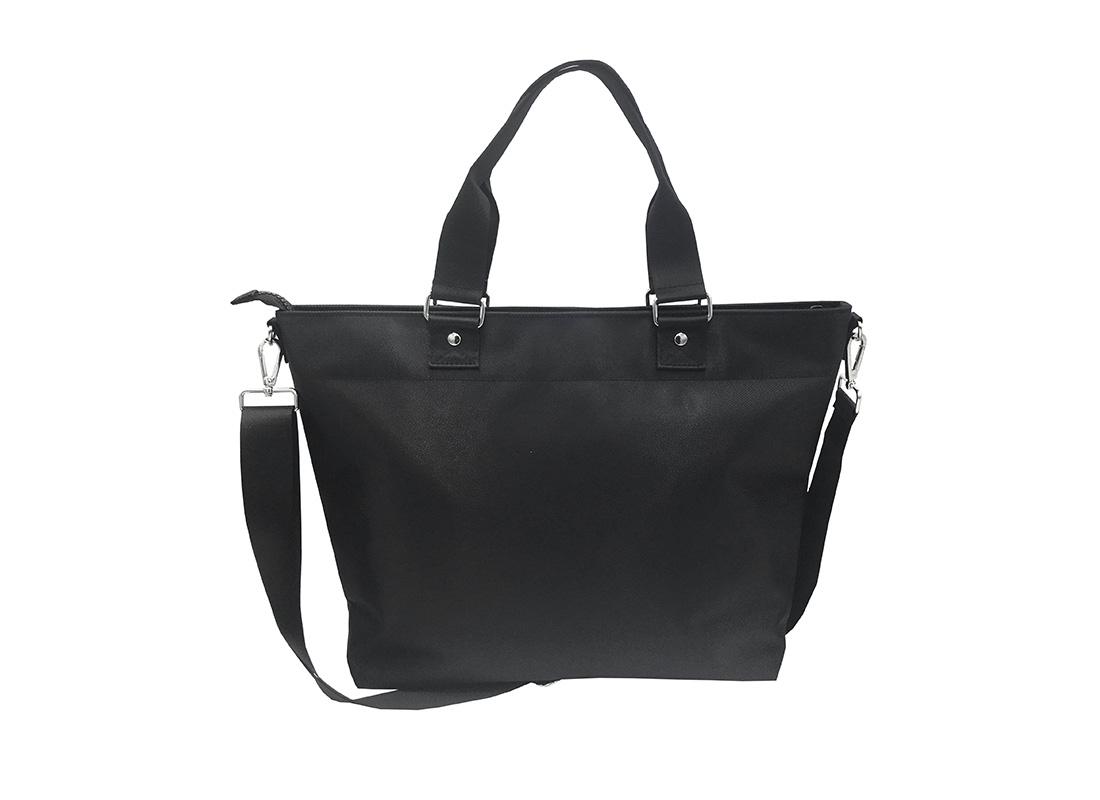 Luxury Tote Bag for Men in Black Back