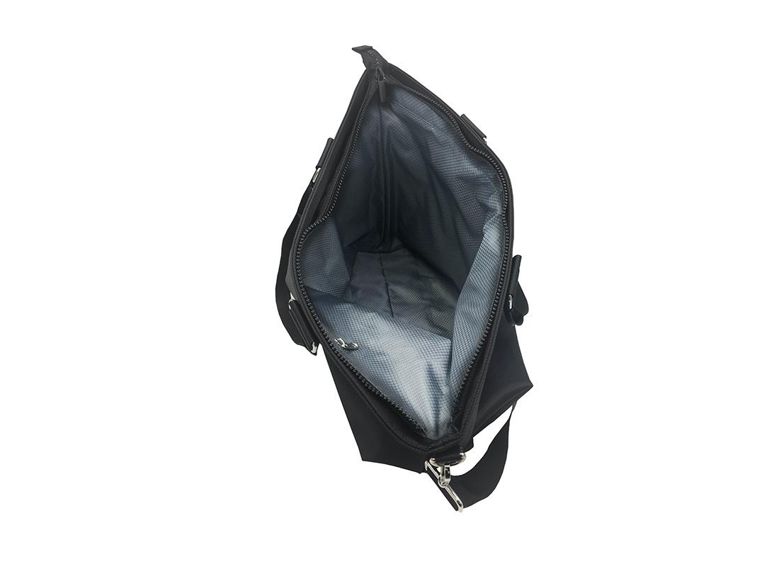 Luxury Tote Bag for Men in Black Open