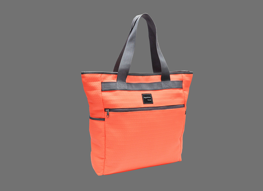 Neon Tote Bag in Neon Orange L side