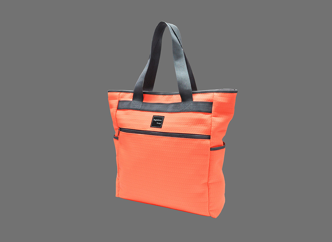 Neon Tote Bag in Neon Orange R side