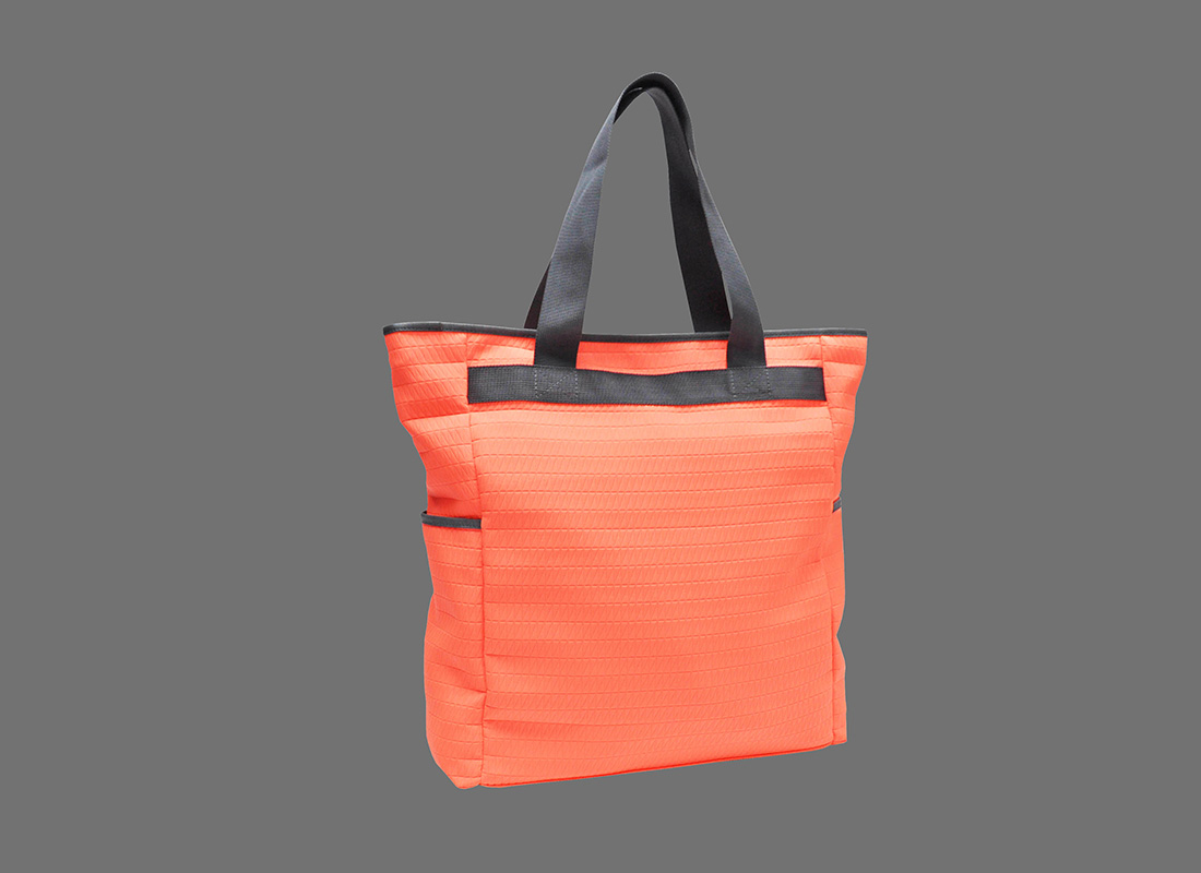 Neon Tote Bag in Neon Orange Side back