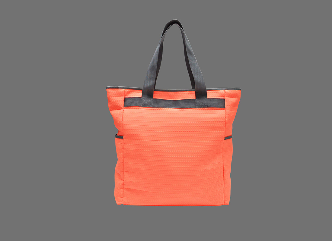 Neon Tote Bag in Neon Orange Back