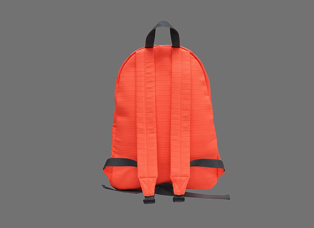 Neon backpack in Neon Orange back