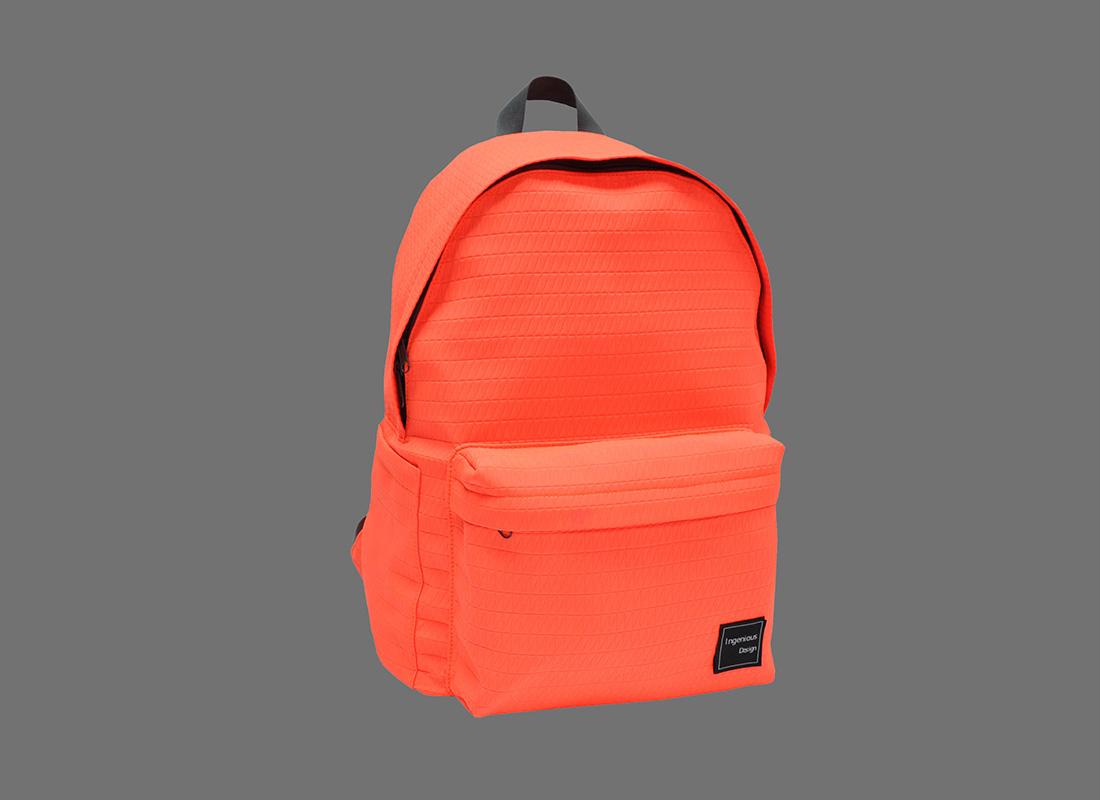 Neon Backpack in Neon Orange L side
