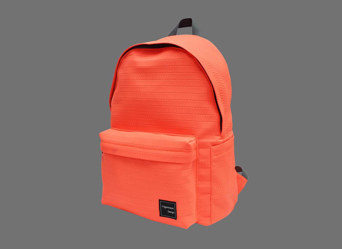 Neon Backpack in Neon Orange R side