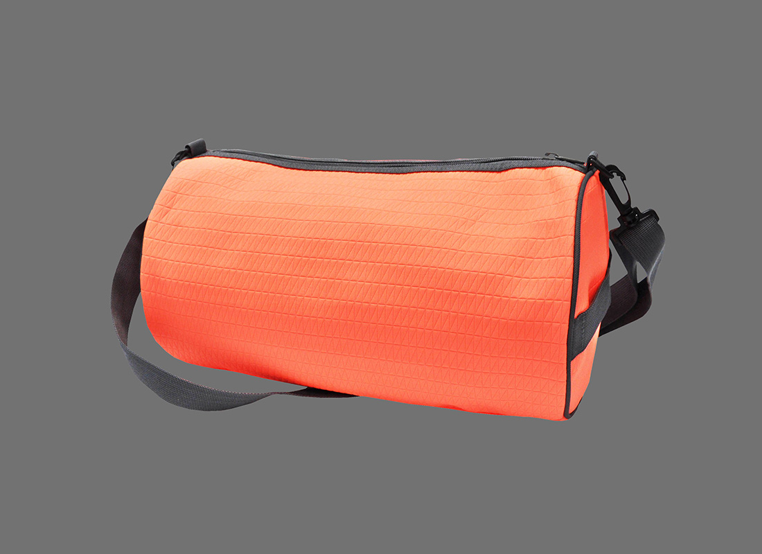 Neon duffle bag in Neon Orange back