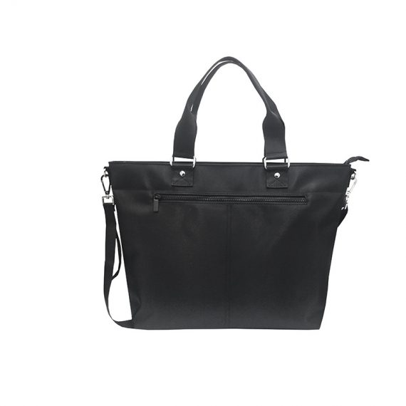 Luxury Tote Bag for Men in Black Front