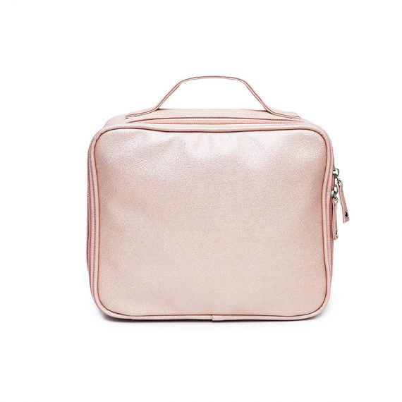sparkly cosmetic bag - 20012-pink front