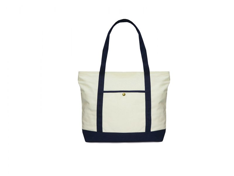 Canvas Tote 21001 White Color Front