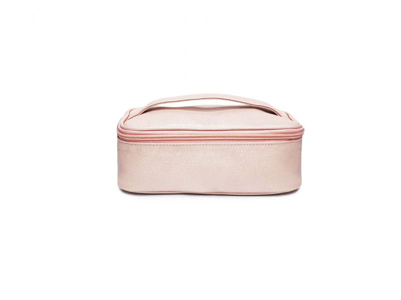sparkly cosmetic bag - 20009 - pink front
