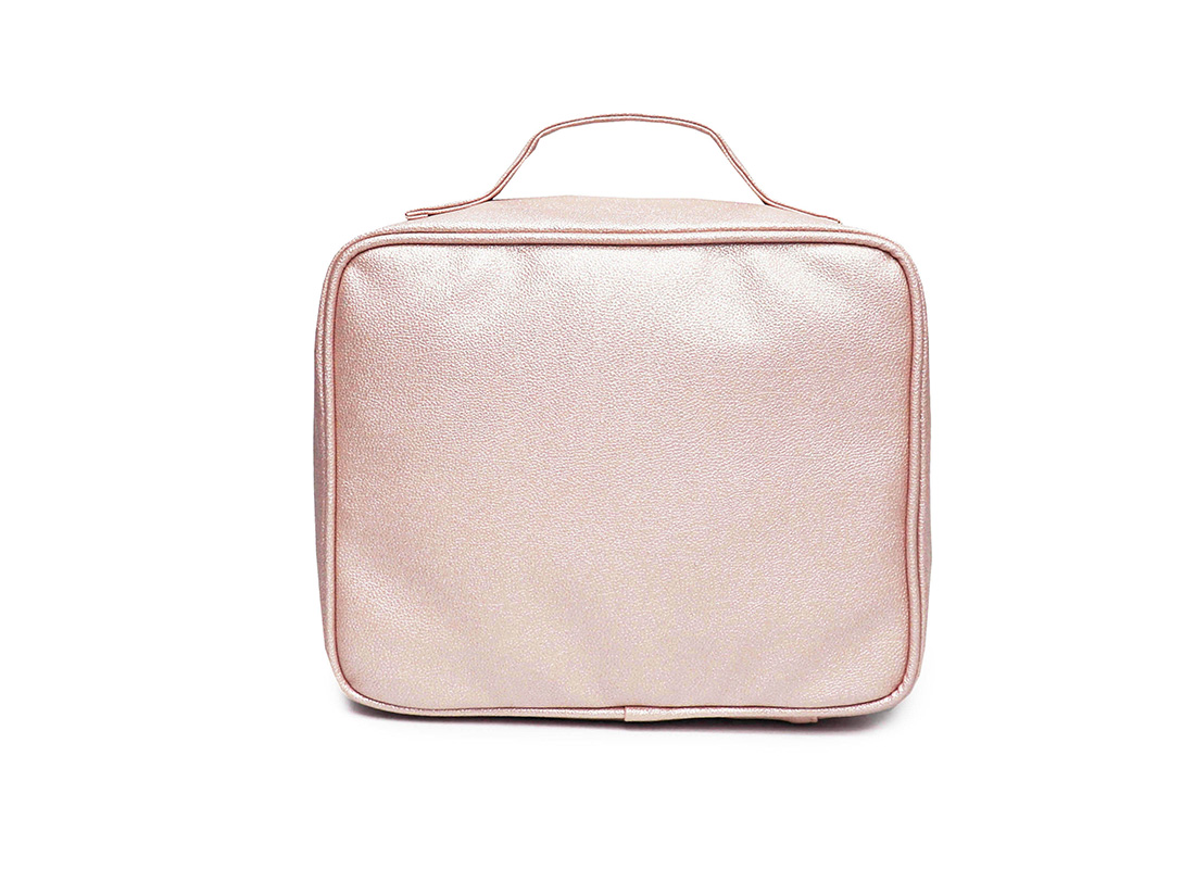 sparkly cosmetic bag - 20012-pink back