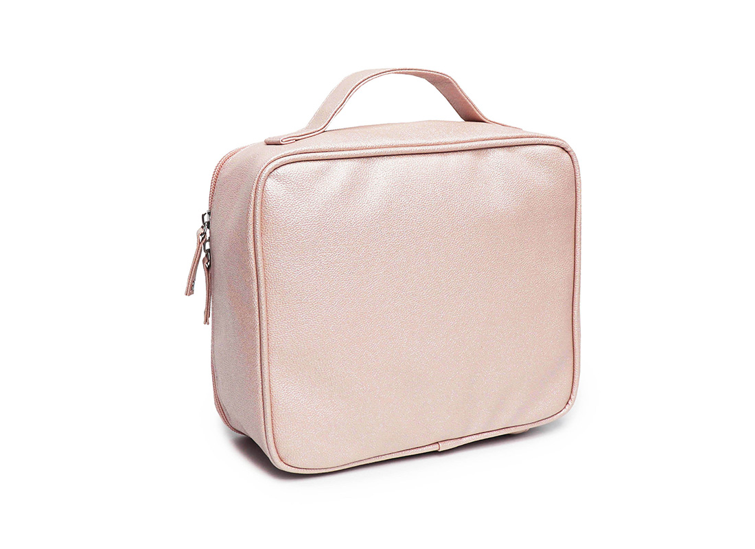 sparkly cosmetic bag - 20012 - pink L side