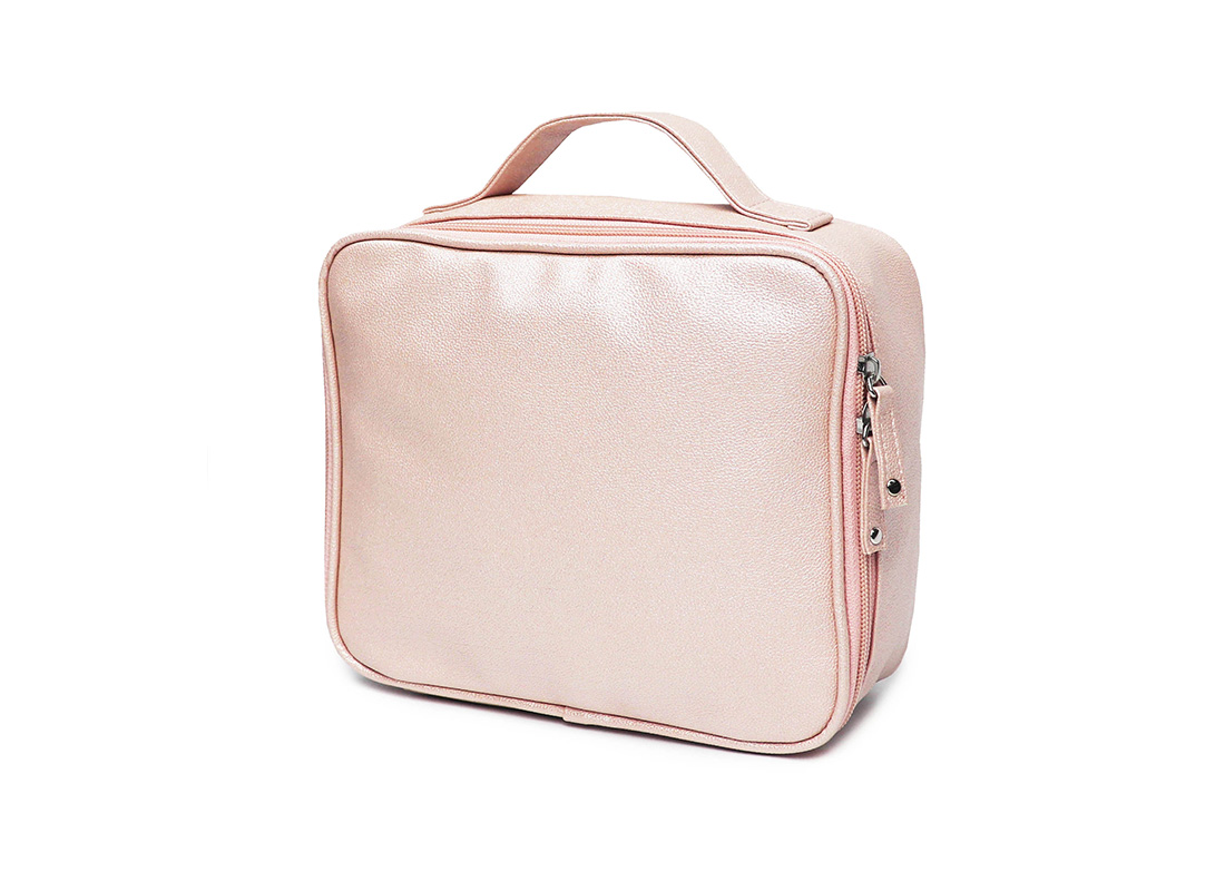 sparkly cosmetic bag - 20012 - pink r side