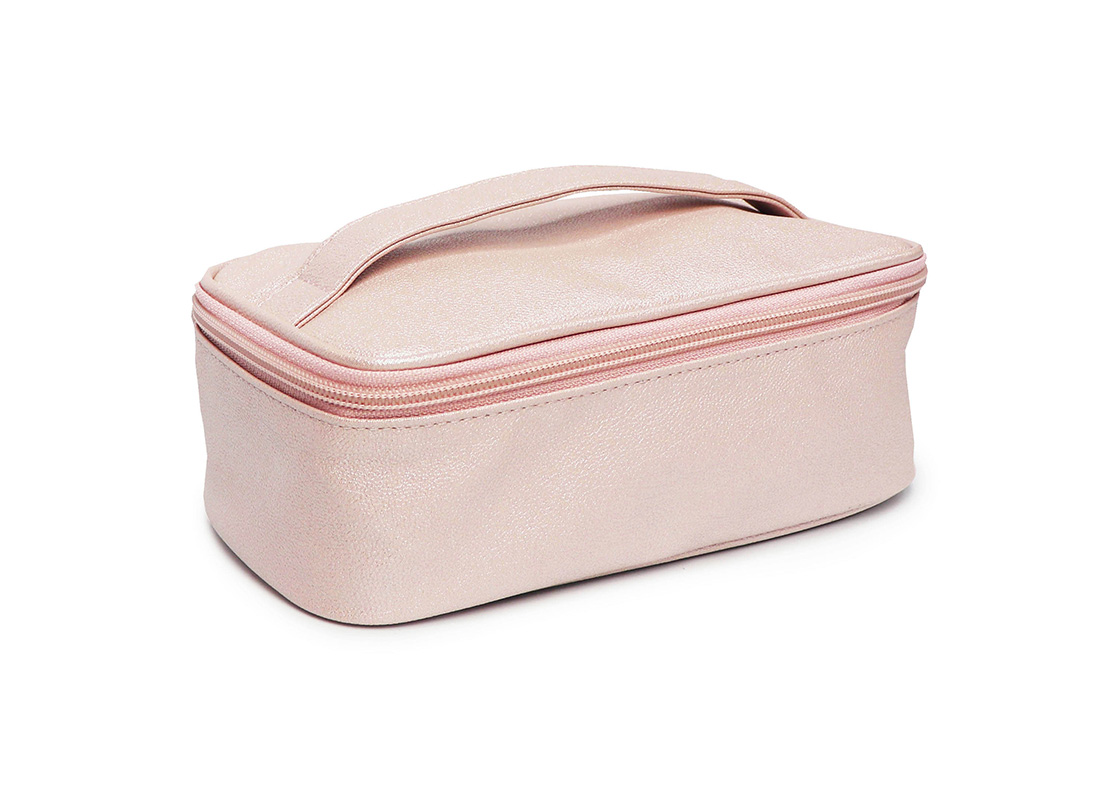 sparkly cosmetic bag - 2009 - pink l side