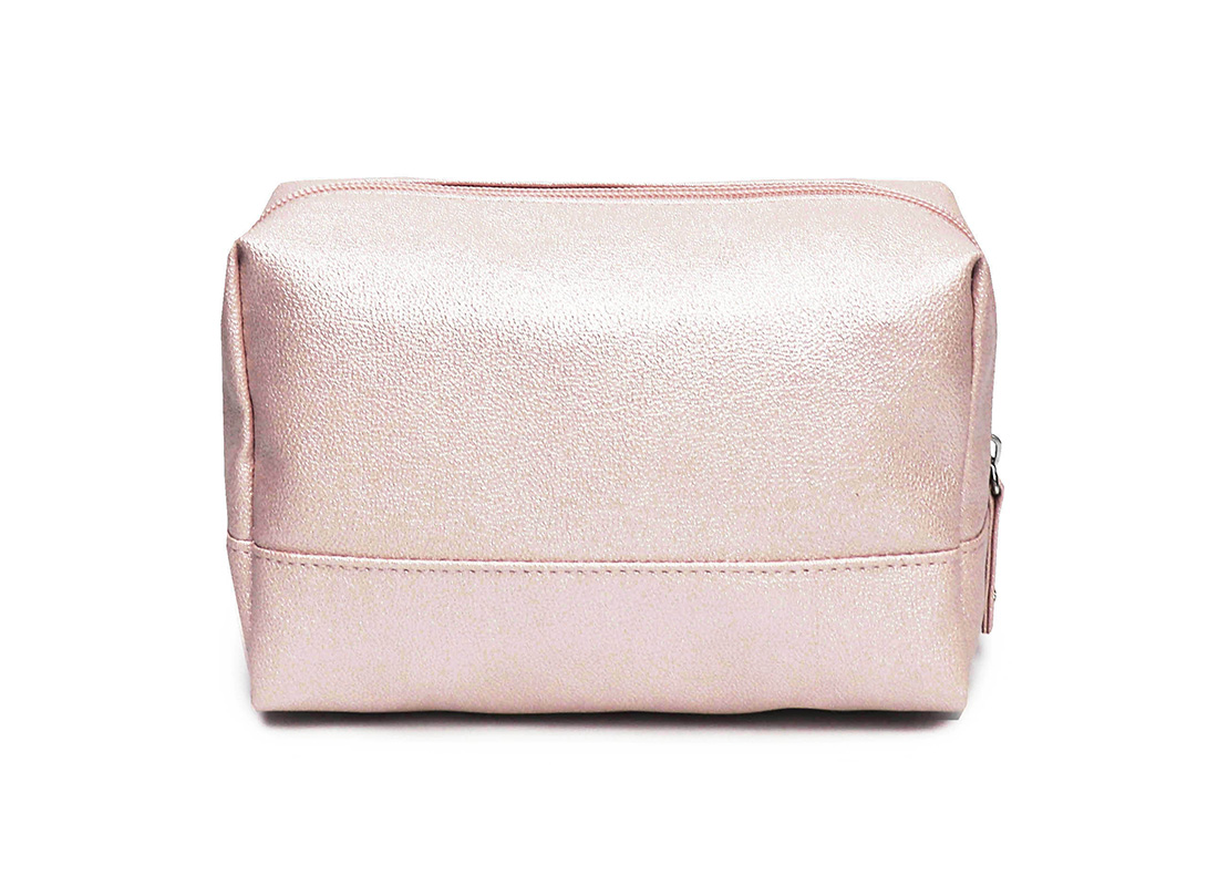 sparkly cosmetic bag - 20010 - pink back