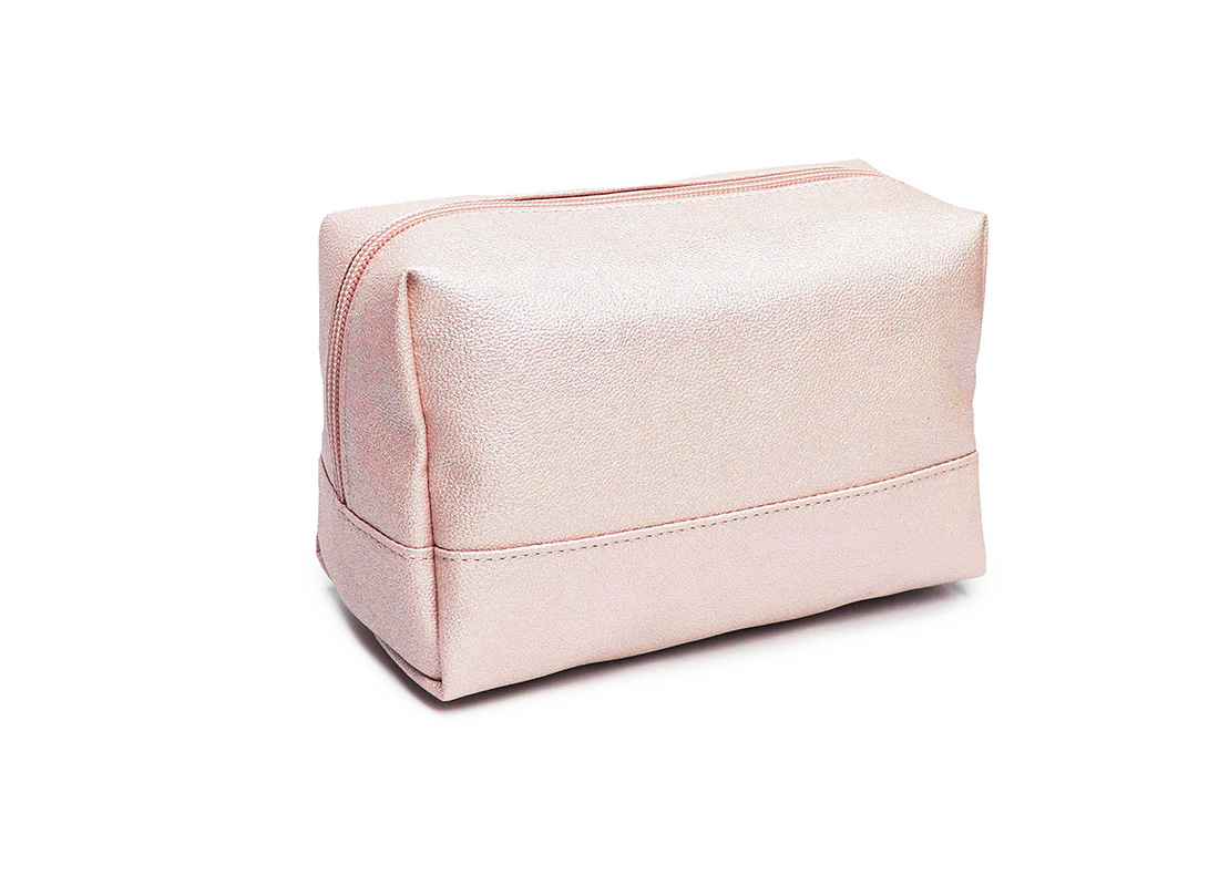 sparkly cosmetic bag - 20010 - pink L back