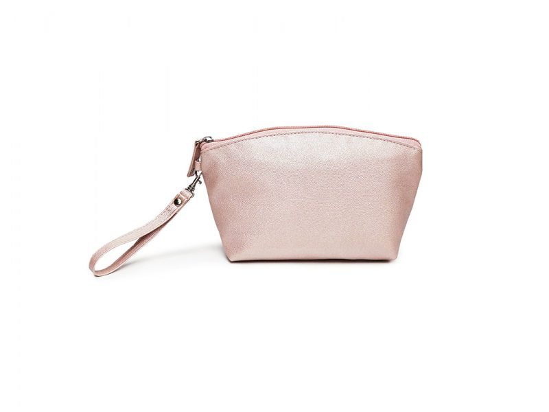 sparkly cosmetic bag - 20011 - pink front