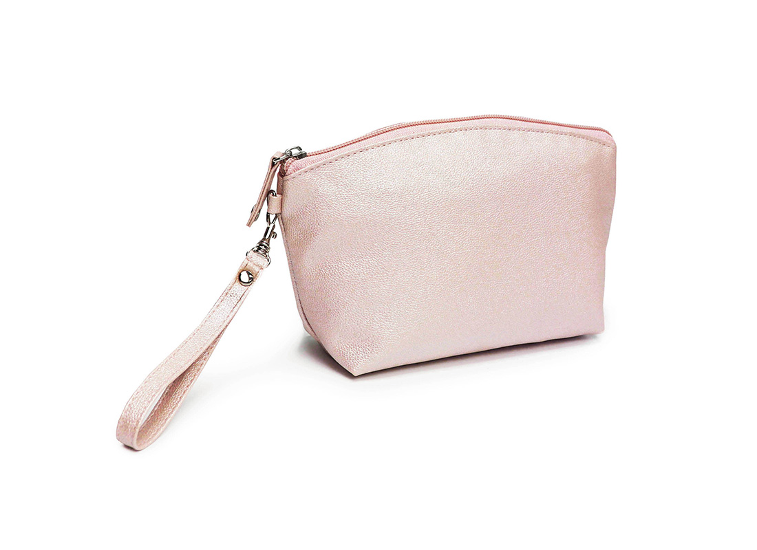sparkly cosmetic bag - 20011-pink L back