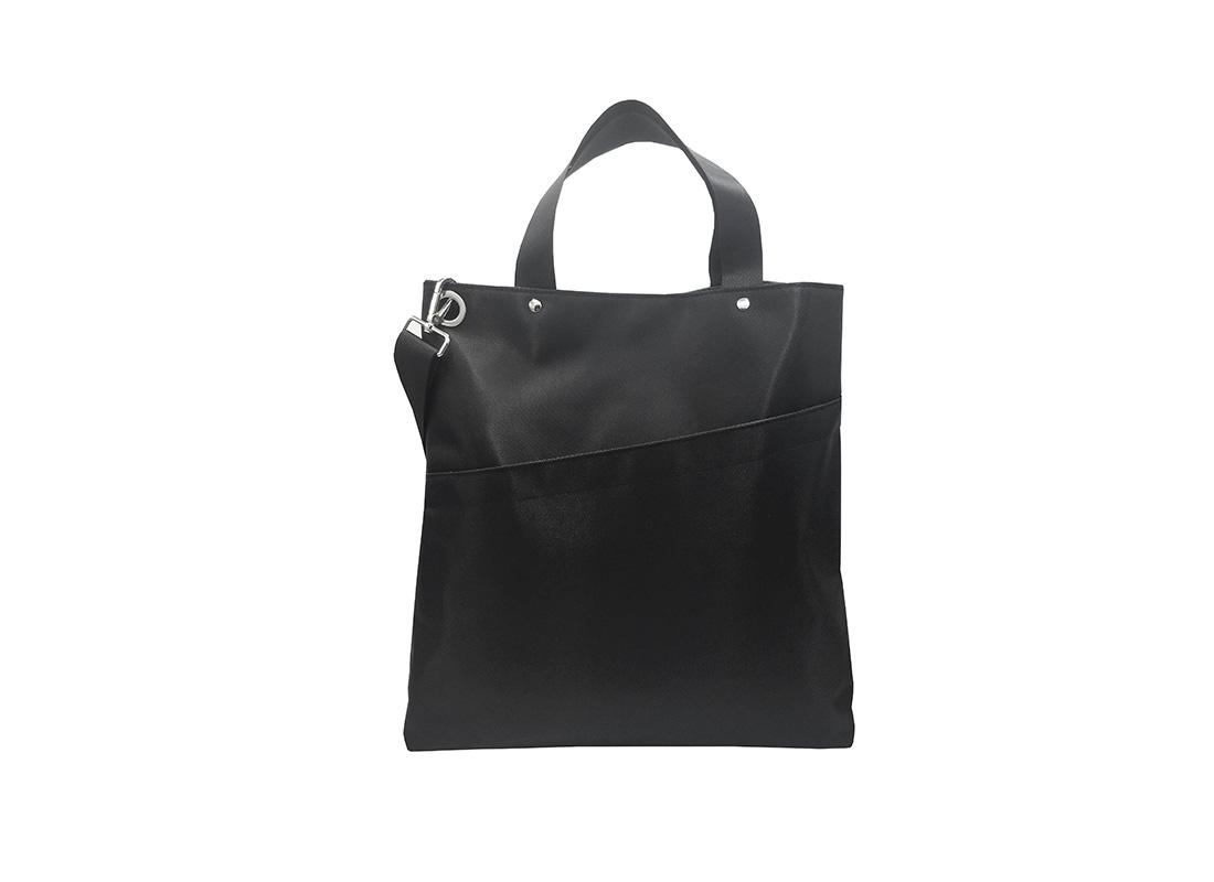 Black Tote Bag for Men Front
