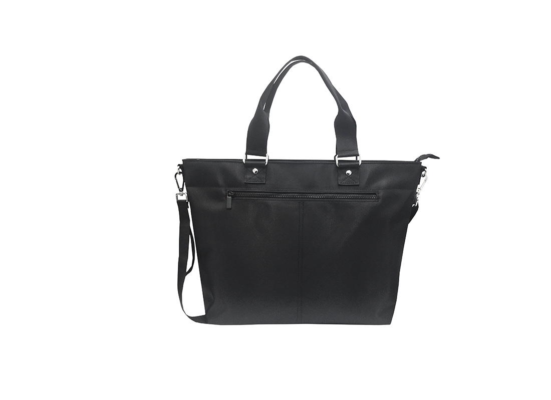 Luxury Tote Bag for Men in Black Front