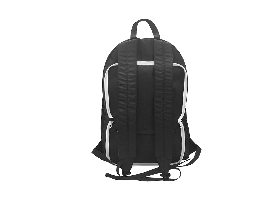 Folded Backpack in Black Back