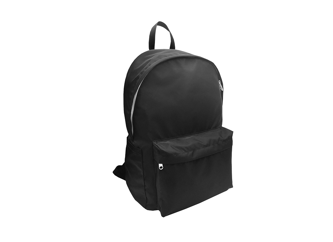Folded Backpack in Black L side