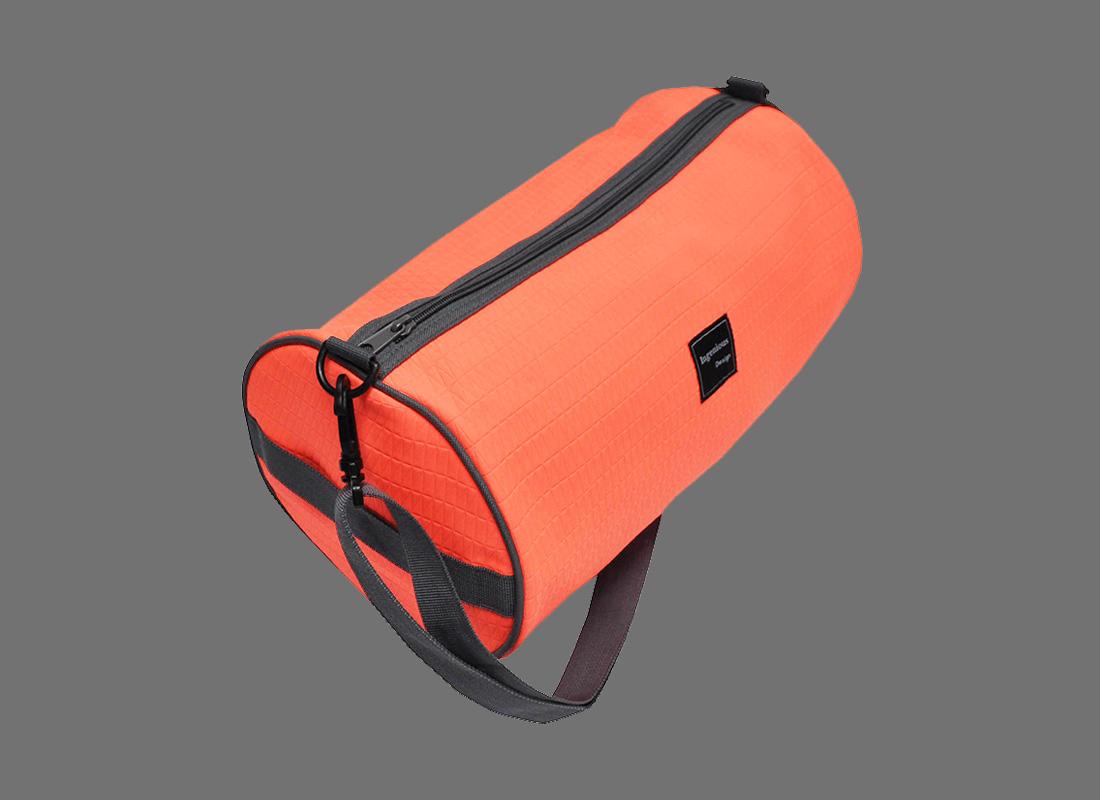 Neon duffle bag in Neon Orange L side