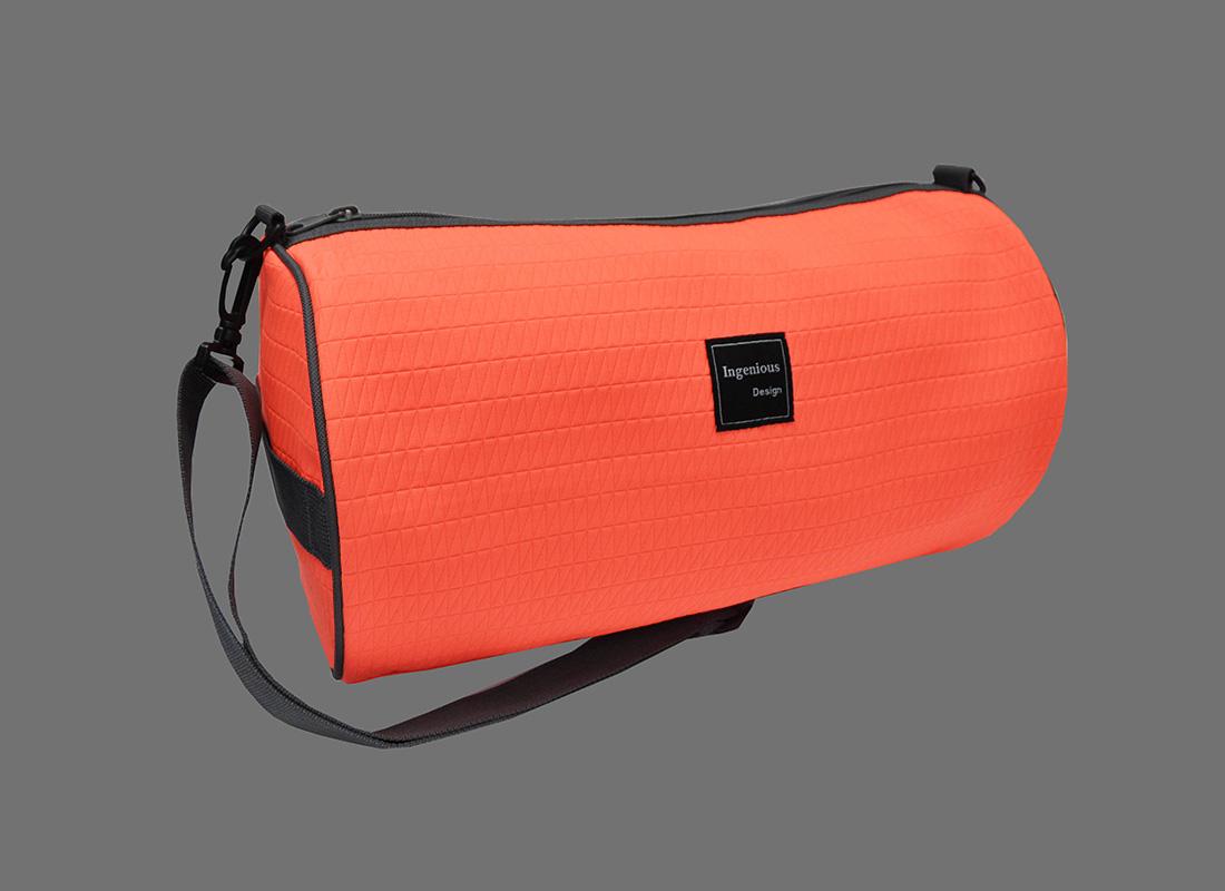 Neon buffle bag in Neon orange L side