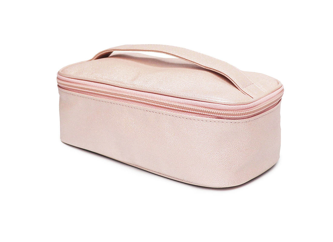 sparkly cosmetic bag - 20009 - pink r side