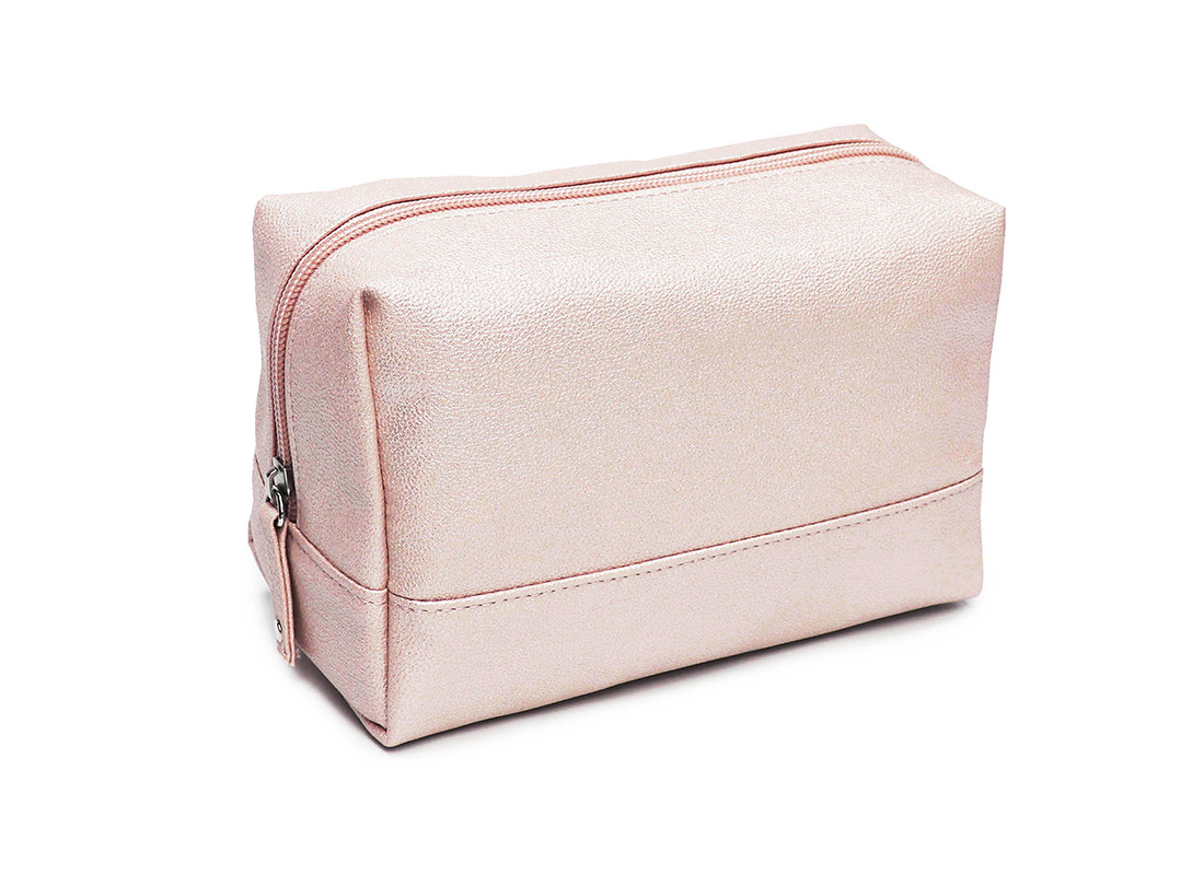 sparkly cosmetic bag - 20010 - pink l side