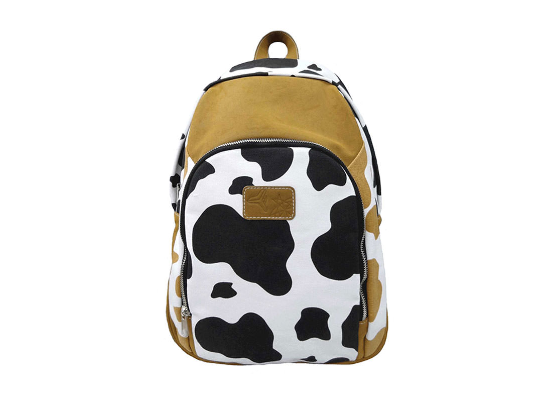 Cow Print Backpack