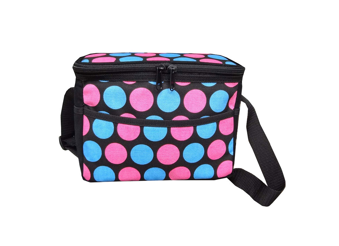 Dotted Canvas Cooler Bag