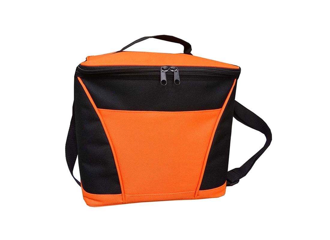 Insulated Cooler Bag in Orange & Black