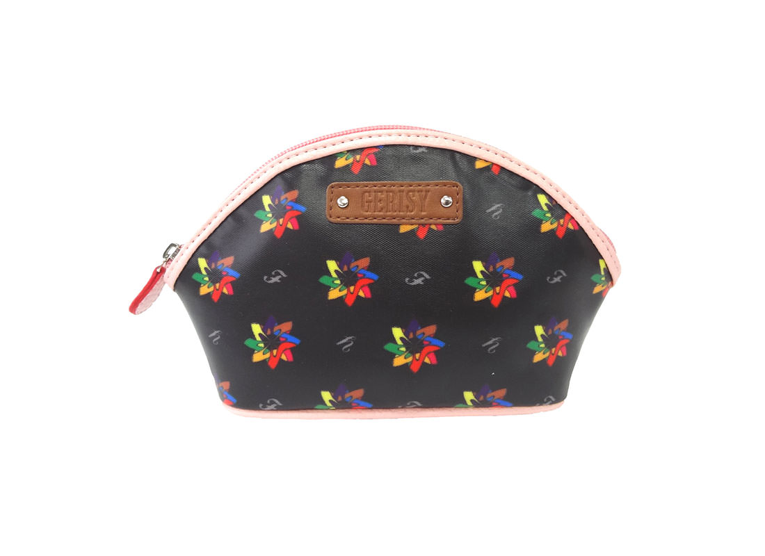 Kaleidoscopic pattern cosmetic Bag
