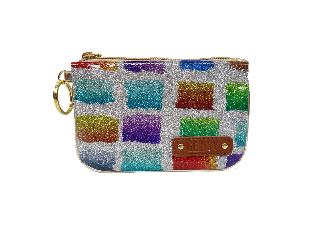 Colorful Glitter Zipper pouch