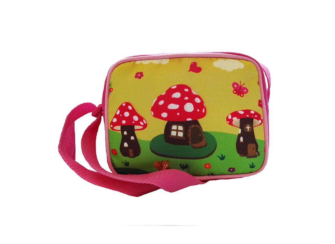 Mushroom House Shoulder Bag for children