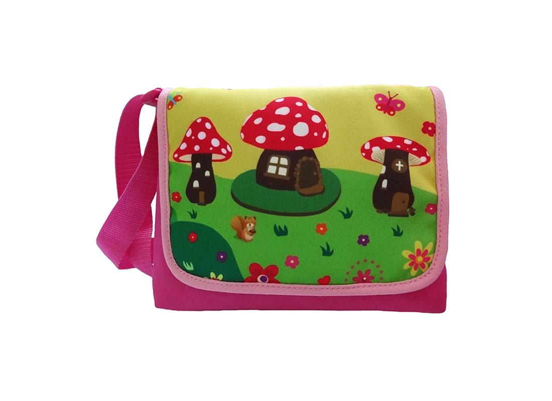 Mushroom House Kid Shoulder Bag with Flap