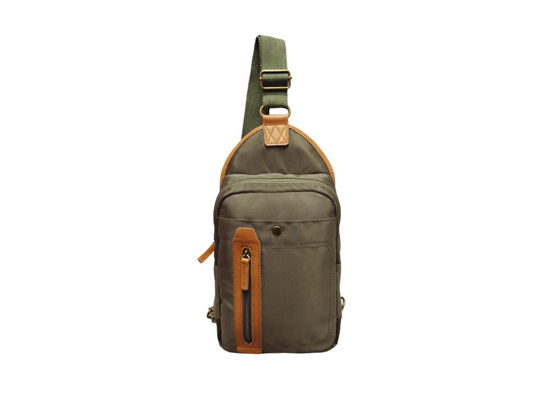 Men Sling Bag in Military Green