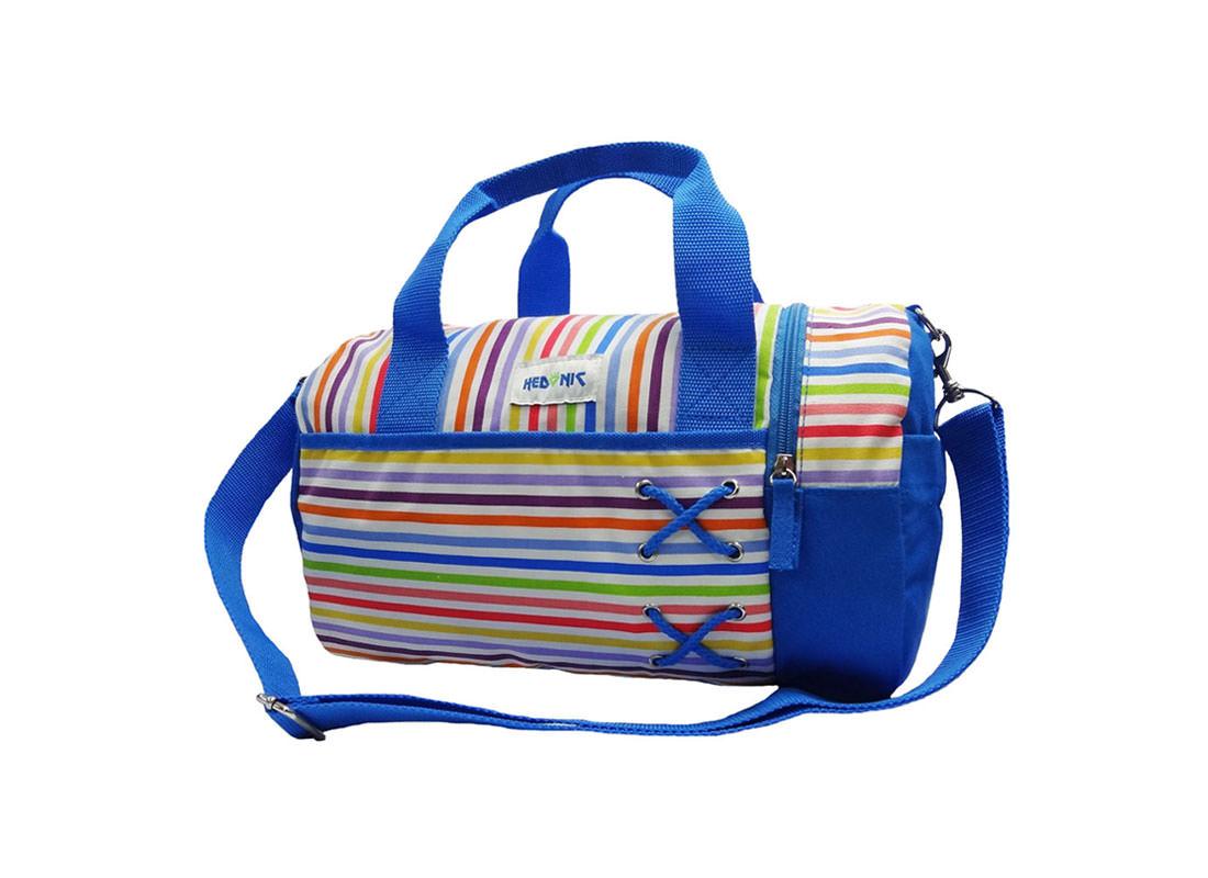 Colorful Striped Duffel Bag