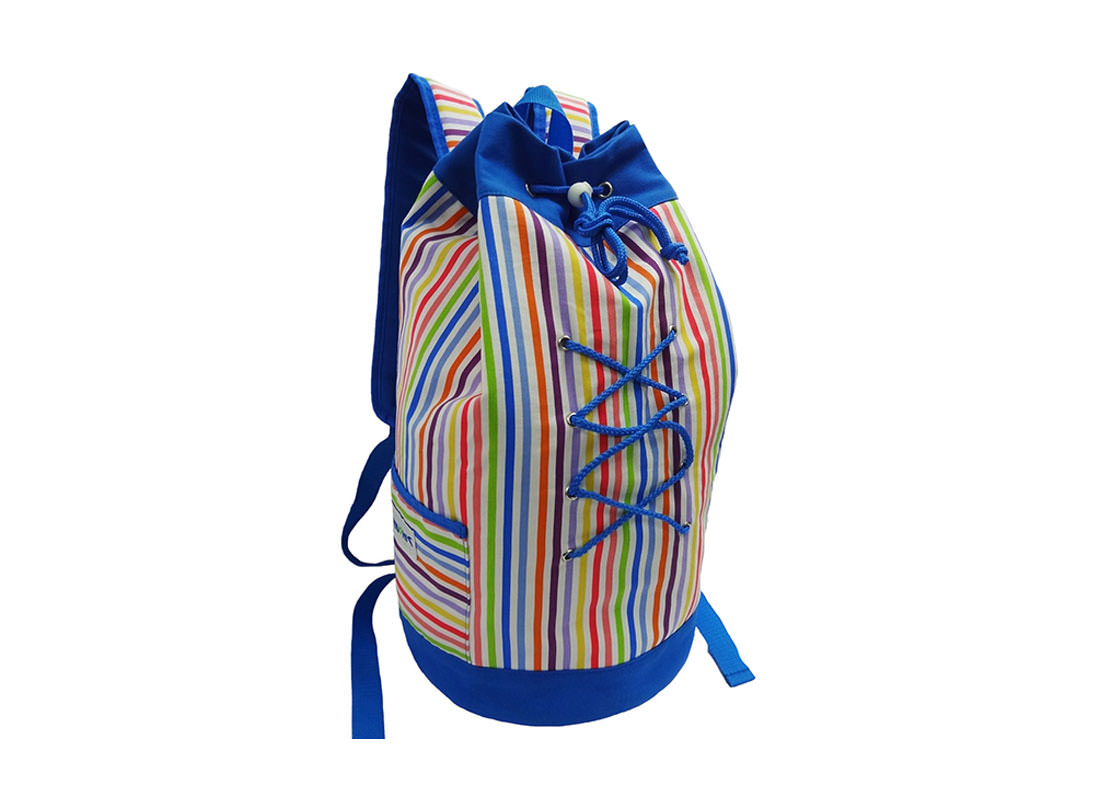 Colorful Striped Drawstring duffel Bag