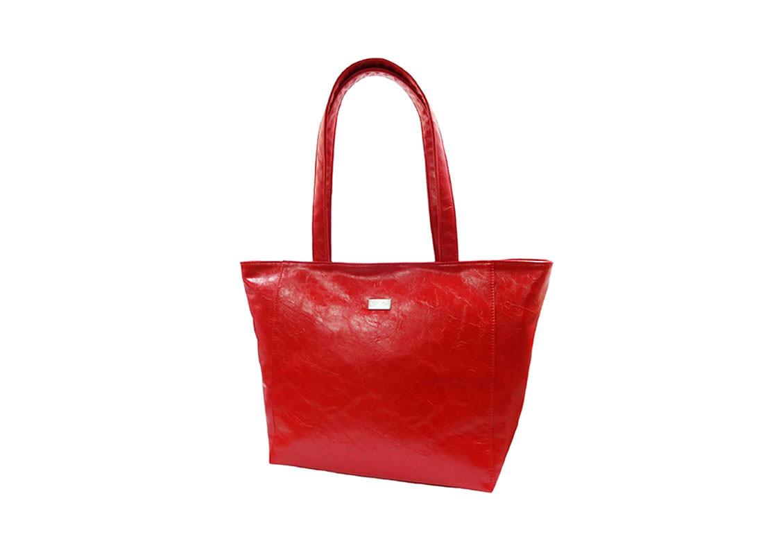 Simple Elegance red Tote handbag