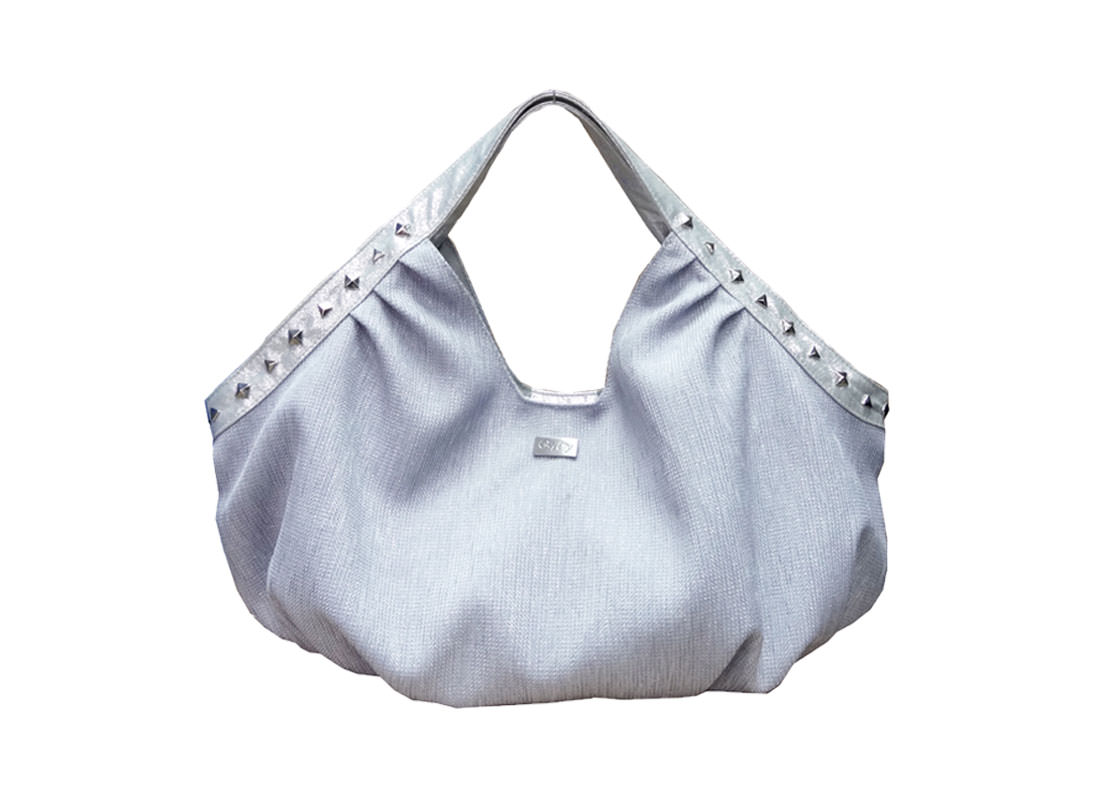 Fashion Women Handbag in Silver Color